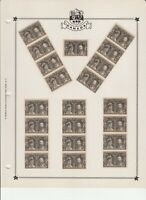 Canada  #96 Quebec Tercentenary wholesale lot of 61 Mint 3 pages Scott CV$457.50