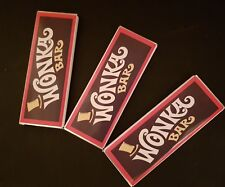 6 wonka REPLICA chocolate bars with a golden ticket invite inside Hand Made