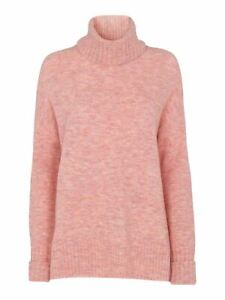 WHISTLES Ladies Pale Pink Oversized Roll Neckline Jumper Size S RRP119 BNWT