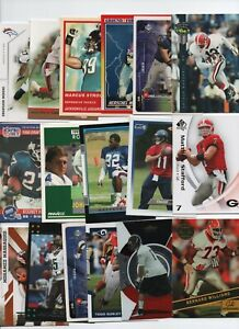 GEORGIA BULLDOGS 50 CARD FOOTBALL LOT WALKER, BUTLER SMITH HEARST, GREEN, WARD..