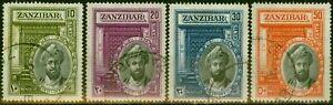 Zanzibar 1936 Sultan Set of 4 SG323-326 Very Fine Used