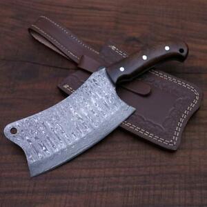 """CUSTOM HANDMADE DAMASCUS STEEL 10"""" CHEF KNIFE, CLEAVER KNIFE JAPANESE KNIFE"""