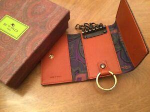 Fantastic Etro Key Ring Case Wallet Card Holder New in Box !!
