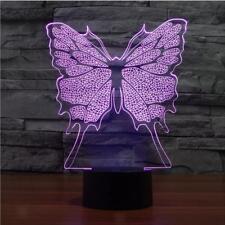 LED Lampe Projection de 3D Papillon 7 Couleurs Lumière dacoration de Maison