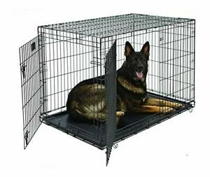 Life Stages LS-1648DD Double Door Folding Crate for X-Large Dogs 91 - 110 Lbs