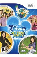 Disney Channel All Star Party Nintendo Wii Kids Game Girls/boys 1 U 7 Shows in 1