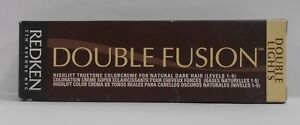 REDKEN Double Fusion DOUBLE LIGHTS High Lift Color For Natural Dark Hair ~ 2 oz!