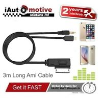 Audi VW iPod iPhone 5 5s 6 6s Plus Audio AMI Lead Adaptor Long Interface Cable