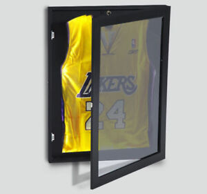 "31.5"" Jersey Display Case Lockable Shadow Box Frame Football Baseball Basketball"
