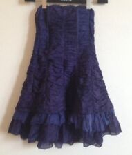 BNWT! L.A Love Purple Boned Cocktail Party Dress Silk Size 8