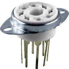 8 Pin Ceramic Vacuum Tube Socket, PCB Top Mount, Long Leads