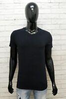Dolce&Gabbana Maglia Uomo Taglia S Maglietta Shirt Man Cotone Nero Manica Corta
