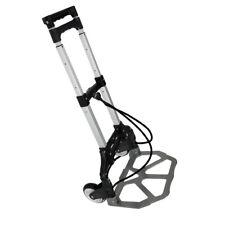 Portable Black Aluminium Folding Luggage Cart&Hand Trolley Strong Sturdy Design