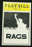 BOSTON PLAYBILL - July 1986 - RAGS - Teresa Stratas / Larry Kert   b3