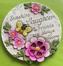 Floral Stepping Stone Friends Are The Flowers In The Garden Of Life Patio Pink