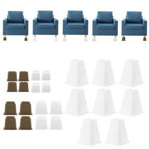 4x Furniture Risers Sofa Bed Table Chair Riser Legs Lift