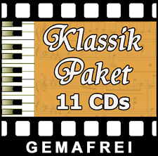 KLASSIK PAKET 11 CDs - GEMAFREIE MUSIK - AKM SUISA FREI ROYALTY FREE - VERTONUNG