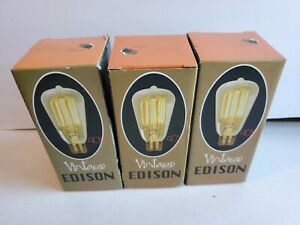 Vintage Edison E27 Incandescent Filament Light Bulb-3pack. 40 WATT. MUDRA CO.