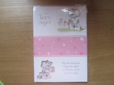 Sealed Happy 13th Birthday For You Teenager Greeting Card Cat Teddy Pink (233)
