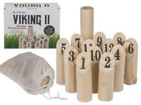 NEW VIKING WOODEN THROWING GAME PARTY GAMES 14 PIECE GIFT