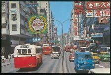 (HKPNC) HONG KONG 70's KOWLOON NATHAN ROAD UNUSED POSTCARD VF CONDITION