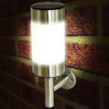 Solar Powered Outdoor Garden Wall Lights Stainless Steel Up Down Wall Lights
