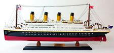 "RMS Titanic Wooden Ship Model 24"""