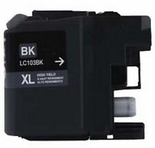 2 Pack of Quality BLACK Ink Cartridges for BROTHER LC103BK
