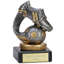 FOOTBALL BOOT TROPHY MAN OF THE MATCH AWARD 10cm FREE ENGRAVING 137A.FX005