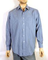 euc Brooks Brothers Blue Fine Striped Button Down Dress Shirt sz L 16 - 6