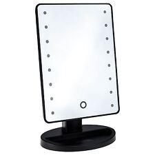 16 LED Makeup Mirror Touch Illuminated Travel Light 180° Swivel Shaving Bathroom