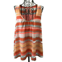 Anthropologie Meadow Rue Striped Pleated Top Blouse Sleeveless Size Small