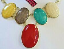 NEW! Betsey Johnson Resin Beautiful Bib Necklace Pendant