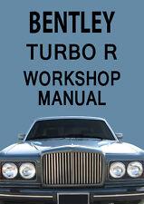 BENTLEY TURBO R WORKSHOP MANUAL: 1980-1990