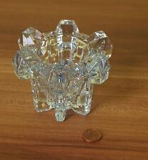 Sehr schöner bläulicher Kerzenständer für 2cm + 4cm Kerzen Bleikristallglas(BB1)