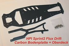 HPI Sprint 2 Drift Flux Carbon HD Tuning Set 1:10 Oberdeck Bodenplatte chassis