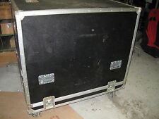 LARGE ROAD TOUR CASE FOR MUSIC GEAR CABINET DRUM PA EQUIPMENT W/ CASTER WHEELS