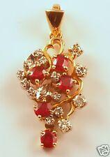 Rubies & Diamonds Pendant 14ky gold! Beautiful!!