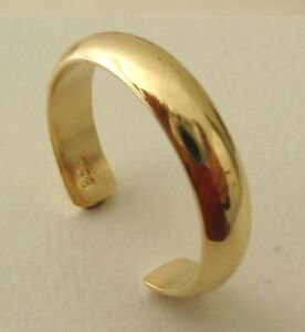 GENUINE SOLID 9K 9ct YELLOW GOLD PLAIN DOME TOE RING