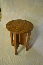 MISSION TABOURET END STAND WITH SLATS SOLID OAK 20 INCH   FREE SHIPPING