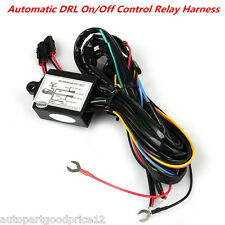Car LED Daytime Running Light DRL Relay Harness Automatic On Off Control Dimmer