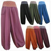 Ladies Harem Pants Baggy Bohemian Boho Hippie Aladdin Yoga Genie Trousers HWPC