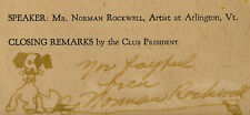 Norman Rockwell Original Drawing Signed and Inscribed Artifact Signature Dog Nr