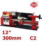 "SIEG C2 180x300mm (7""x12"") Variable Speed Mini Metal Hobby Lathe Auto Feed"