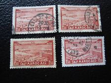 MAROC - timbre yvert et tellier aerien n° 36 x4 obl (A29) stamp morocco (A)