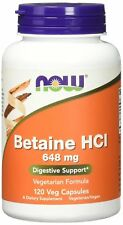 NOW FOODS BETAIN HCI 648 mg 120 Veg. Kapseln ORIGINAL Digestive Support