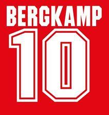 Bergkamp #10 Arsenal 1994-1996 Euro Home Football Nameset for shirt