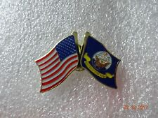 United States Navy flag / American flag on the side Lapel pin New!
