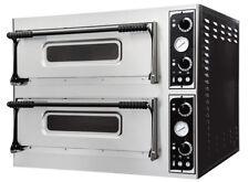 FORNO PIZZA BASIC 6+6 kw.14.4 temp. 500°C. refrettario in platea