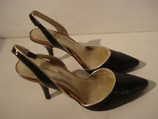 Black Slingback Heels Gold Trim New With Box Size UK 5 EUR 38 By Anne Michelle